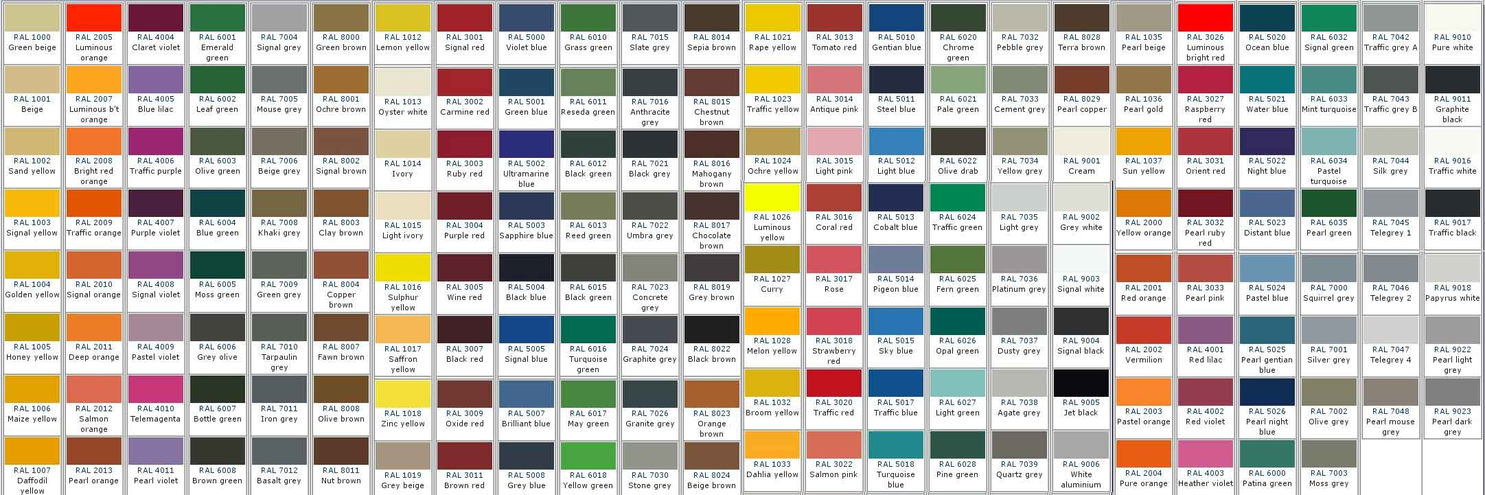 Jotun Ral Colour Chart Sigma Paint Color Cards International